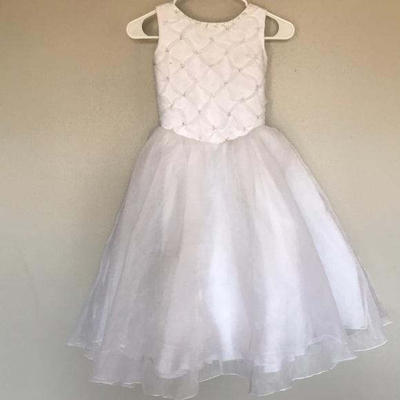 Dresses Girls White Formal Dress 1012 Poshmark